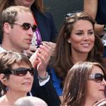 Prince William and Catherine, Duchess of Cambridge attend the match between Andy Murray of Great Britain and Nicolas Almagro of Spain in the Quarterfinal of Men's Singles Tennis on Day 6 of the London 2012 Olympic Games at Wimbledon 122222