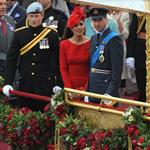 Prince Harry, Prince William and Catherine, Duchess of Cambridge on The Queen's Diamond Jubilee River Pageant Flotilla 116301