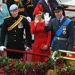 Prince Harry, Prince William and Catherine, Duchess of Cambridge on The Queen's Diamond Jubilee River Pageant Flotilla 116302