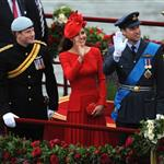 Prince Harry, Prince William and Catherine, Duchess of Cambridge on The Queen's Diamond Jubilee River Pageant Flotilla 116306