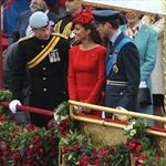 Prince Harry, Prince William and Catherine, Duchess of Cambridge on The Queen's Diamond Jubilee River Pageant Flotilla 116312