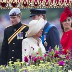 Prince Charles, Prince Harry, Prince William, Camilla, Duchess of Cornwall and Catherine, Duchess of Cambridge on The Queen's Diamond Jubilee River Pageant Flotilla  116325
