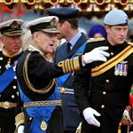 Prince Phillip,Prince Harry, Prince William, and Prince Charles on The Queen's Diamond Jubilee River Pageant Flotilla 116337
