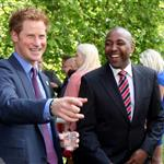 Prince Harry hosts a reception for school games athletes, at Clarence House 122376