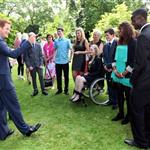 Prince Harry hosts a reception for school games athletes, at Clarence House 122378