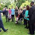 Prince Harry hosts a reception for school games athletes, at Clarence House 122379