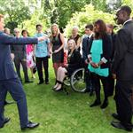 Prince Harry hosts a reception for school games athletes, at Clarence House 122387