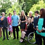 Prince Harry hosts a reception for school games athletes, at Clarence House 122388