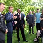 Prince Harry hosts a reception for school games athletes, at Clarence House 122395