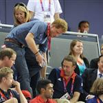 Catherine, Duchess of Cambridge, Prince William, Duke of Cambridge and Prince Harry during Day 6 of the London 2012 Olympic Games 122402