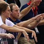 Catherine, Duchess of Cambridge, Prince William, Duke of Cambridge and Prince Harry during Day 6 of the London 2012 Olympic Games 122407