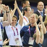 Catherine, Duchess of Cambridge, Prince William, Duke of Cambridge and Prince Harry during Day 6 of the London 2012 Olympic Games 122409