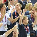 Catherine, Duchess of Cambridge, Prince William, Duke of Cambridge and Prince Harry during Day 6 of the London 2012 Olympic Games 122414
