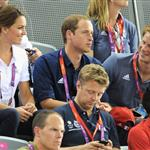Catherine, Duchess of Cambridge, Prince William, Duke of Cambridge and Prince Harry during Day 6 of the London 2012 Olympic Games 122416