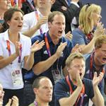 Catherine, Duchess of Cambridge, Prince William, Duke of Cambridge and Prince Harry during Day 6 of the London 2012 Olympic Games 122417