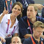 Catherine, Duchess of Cambridge, Prince William, Duke of Cambridge and Prince Harry during Day 6 of the London 2012 Olympic Games 122424