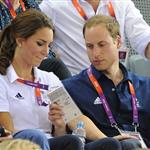 Catherine, Duchess of Cambridge, Prince William, Duke of Cambridge and Prince Harry during Day 6 of the London 2012 Olympic Games 122429