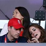 Will, Harry, and Kate at Olympic Stadium 122609