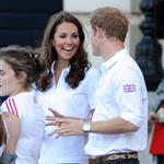 Prince William, Catherine, and Prince Harry welcome the Olympic torch at Buckingham Palace 121785