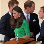Prince William and Catherine with Prince Harry at Zara Phillips wedding 90970