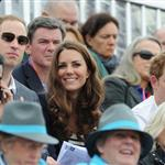 Prince William, Duke of Cambridge, Catherine, Duchess of Cambridge and Prince Harry watch the Show Jumping Equestrian event on Day 4 of the London 2012 Olympic Games 122067