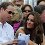 Prince William, Duke of Cambridge, Catherine, Duchess of Cambridge and Prince Harry watch the Show Jumping Equestrian event on Day 4 of the London 2012 Olympic Games 122072