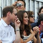 Prince William, Duke of Cambridge, Catherine, Duchess of Cambridge and Prince Harry watch the Show Jumping Equestrian event on Day 4 of the London 2012 Olympic Games 122074
