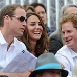 Prince William, Duke of Cambridge, Catherine, Duchess of Cambridge and Prince Harry watch the Show Jumping Equestrian event on Day 4 of the London 2012 Olympic Games 122081