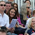Prince William, Duke of Cambridge, Catherine, Duchess of Cambridge and Prince Harry watch the Show Jumping Equestrian event on Day 4 of the London 2012 Olympic Games 122088