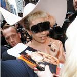 Lady Gaga at Good Morning America in rubber suit 79381