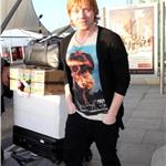 Rupert Grint with Japanese Toilet Seat at Heathrow 73605