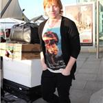 Rupert Grint with Japanese Toilet Seat at Heathrow 73607