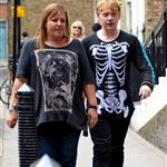 Rupert Grint outside his hotel in London 87652