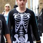 Rupert Grint outside his hotel in London 87655
