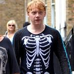 Rupert Grint outside his hotel in London 87656