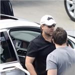 Russell Crowe preparing to leave France with his family after attending Cannes 60962