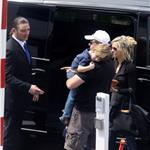 Russell Crowe preparing to leave France with his family after attending Cannes 60967