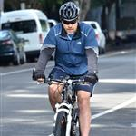 Russell Crowe goes for a bike ride in Sydney 117756