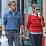 Ryan Gosling and Eva Mendes hold hands on a romantic walk in NYC 114212