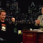Ryan Gosling on Late Night with Jimmy Fallon with his dog George  90446