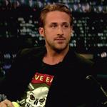 Ryan Gosling on Late Night with Jimmy Fallon with his dog George  90448