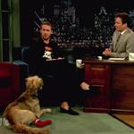 Ryan Gosling on Late Night with Jimmy Fallon with his dog George  90451