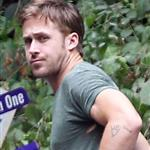 Ryan Gosling outside of a friend's place in Los Angeles 120535