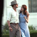 Ryan Gosling Emma Stone on the set of Gangster Squad  94776
