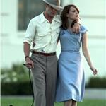 Ryan Gosling Emma Stone on the set of Gangster Squad  94777