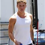 Matthew McConaughey Ryan Phillippe on the set of The Lincoln Lawyer in LA  65151