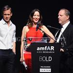 Ryan up on stage at amfAR with Harvey Weinstein and Emily Blunt auctioning off kisses 61766