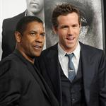 Ryan Reynolds and Denzel Washington at the New York premiere of Safe House 105145