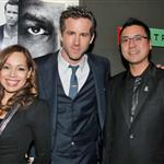 Ryan Reynolds with Bridget Marsden and Dr Leslie Wong at the North American premiere of Safe House in Hollywood 110906