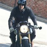 Ryan Reynolds on his motorcycle in Los Angeles  112179